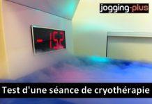 Test d'une séance de cryothérapie pour la récupération