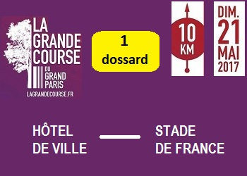 Photo of 1 dossard Grande course du Grand Paris 2017 (10 km)