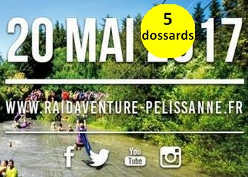Photo of 5 dossards pour le Raid Aventure Pélissanne 2017 (PACA)