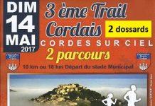 2 dossards Trail Cordais 2017