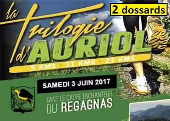 Photo of 2 dossards Trilogie d'Auriol 2017 (Bouches du Rhône)