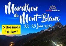 5 dossards pour le 10 km du Marathon du Mont-Blanc 2017