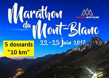 Photo of 5 dossards pour le 10 km du Marathon du Mont-Blanc 2017