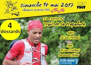 Photo of 4 dossards pour le Trail de la Crapahute 2017 (Seine et Marne)