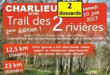 2 dossards Trail des 2 Rivières 2017 (Loire)