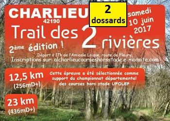 Photo of 2 dossards Trail des 2 Rivières 2017 (Loire)