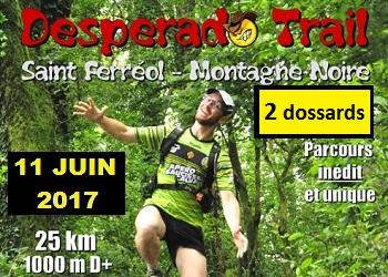 Photo of 2 dossards pour le Desperado Trail 2017 (Tarn)