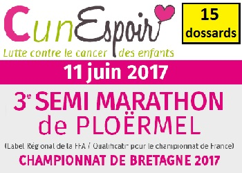 Photo of 15 dossards Semi-marathon de Ploërmel 2017 (Morbihan)