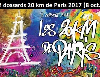 2 dossards pour les 20 km de Paris 2017