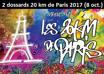 Photo of 2 dossards pour les 20 km de Paris 2017