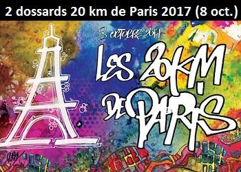 Photo of 2 dossards pour les 20 km de Paris 2017