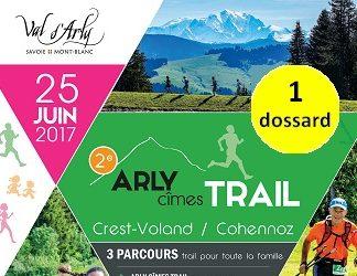 1 dossard Arly Cimes Trail 2017 (Savoie)