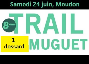 Photo of 1 dossard Trail du Muguet 2017 (Hauts-de-Seine)