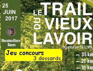 3 dossards Trail du vieux lavoir 2017 (Yvelines)