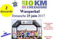 2 dossards 5 & 10 km de l'Hexagone Wasquehal 2017 (Nord)