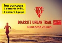 3 dossards Biarritz Urban Trail 2017 (Pyrénées Atlantiques)