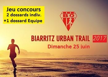 Photo of 3 dossards Biarritz Urban Trail 2017 (Pyrénées Atlantiques)