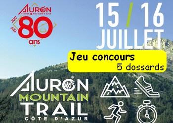 Photo of 5 dossards Auron Mountain Trail Côte d'Azur 2017 (Alpes Maritimes)