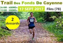 2 dossards pour le Trail des Fonds de Cayenne 2017 (Yvelines)