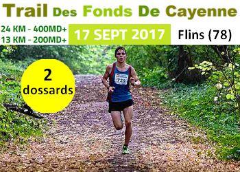 Photo of 2 dossards pour le Trail des Fonds de Cayenne 2017 (Yvelines)