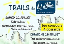 4 dossards Trail du Val d'Allos 2017 (Alpes de Haute Provence)