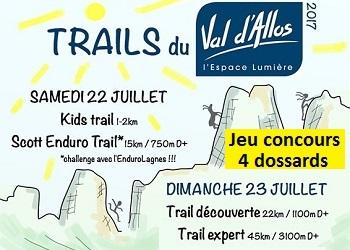 Photo de 4 dossards Trail du Val d'Allos 2017 (Alpes de Haute Provence)