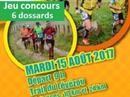 6 dossards Trail du Lévézou Ikalana 2017 (Aveyron)