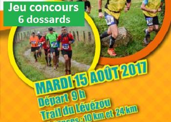 6 dossards Trail du Lévézou – Ikalana 2017 (Aveyron)