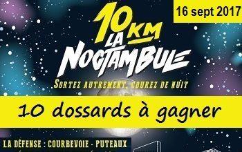 10 dossards 10 km La Noctambule 2017, La Défense (Hauts-de-Seine)