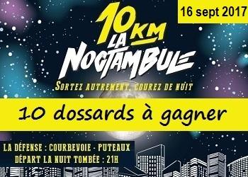 Photo de 10 dossards 10 km La Noctambule 2017, La Défense (Hauts-de-Seine)