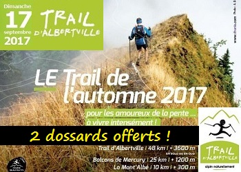Photo of 2 dossards Trail d'Albertville 2017 (Savoie)