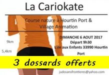 3 dossards pour la Cariokate 2017 (Gironde)