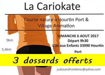 Photo of 3 dossards pour la Cariokate 2017 (Gironde)