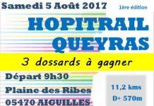 3 dossards pour l'Hopitrail d'Aiguilles 2017 (Hautes Alpes)