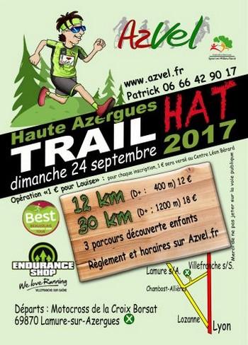 3 dossards Haute Azergues Trail 2017 (Rhône)