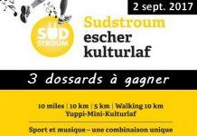 3 dossards Escher Kulturlaf 2017 (5 & 10 km, Luxembourg)