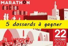 5 dossards Marathon des Côtes du Rhône 2017 (Vaucluse)