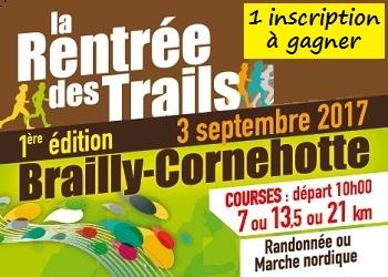 1 inscription à gagner pour la Rentrée des Trails 2017 (Somme)