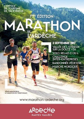 4 dossards Marathon de l'Ardèche 2017