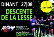 5 dossards pour la Descente de la Lesse 2017, Dinant (Belgique)