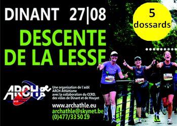 Photo of 5 dossards pour la Descente de la Lesse 2017, Dinant (Belgique)
