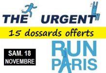 15 dossards Urgent Run Paris 2017