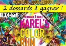 2 dossards pour la Karel's Color Run 2017 (Ille et Vilaine)
