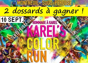 Photo of 2 dossards pour la Karel's Color Run 2017 (Ille et Vilaine)