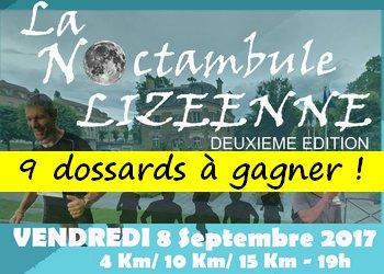 9 dossards Noctambule Lizéenne 2017 (Seine et Marne)