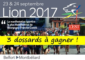 3 dossards Semi-marathon du Lion de Belfort 2017