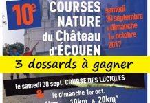 3 dossards Courses nature du Château d'Ecouen 2017 (Val d'Oise)