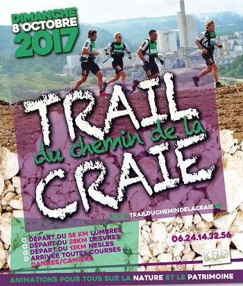 2 dossards Trail du Chemin de la Craie 2017 (Pas de Calais)