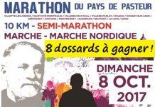 8 dossards Marathon, semi et 10 km du Pays de Pasteur 2017 (Jura)