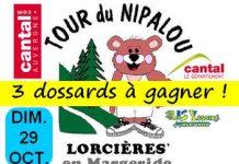 3 dossards Tour du Nipalou 2017 (Trail 46 km, Cantal)